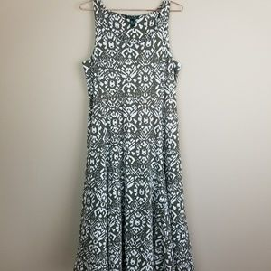 Ralph Lauren Sleeveless Midi Dress in Size Large